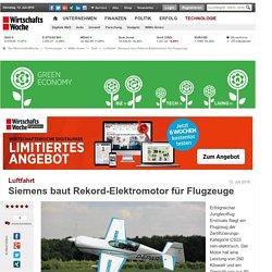 Luftfahrt: Siemens baut Rekord-Elektromotor für Flugzeuge