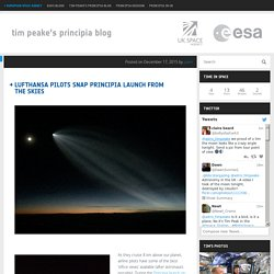 Lufthansa pilots snap Principia launch from the skies