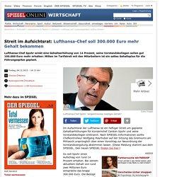 Lufthansa will Vorstandsgehälter kräftig erhöhen