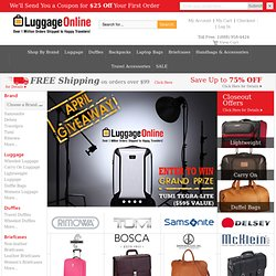 Luggage Online: Quality Designer Luggage, Suitcases & Travel Accessories at Discount Prices from Top Brands