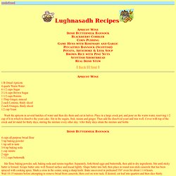 Lughnasadh Recipes