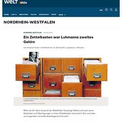 Niklas Luhmann: Ein Zettelkasten als zweites Gehirn - WELT