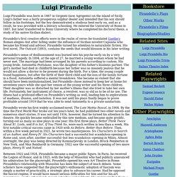 Luigi Pirandello (1867 - 1936)