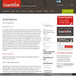 Actief luisteren door Annemarie van der Meer & Marianne van der Pool - Coachlink.nl