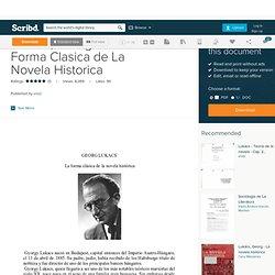 Lukacs, Georg - La Forma Clasica de La Novela Historica