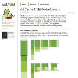 Off Canvas Multi-Device Layouts