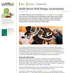 Multi-Device Web Design: An Evolution