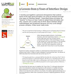 Functioning Form - 9 Lessons from 9 Years of Interface Design