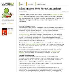 What Impacts Web Form Conversion?