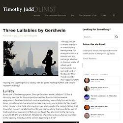 Three Lullabies by Gershwin