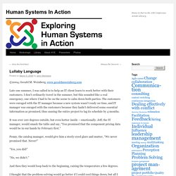 Human Systems In Action