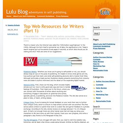 Blog » Top Web Resources for Writers (Part 1)