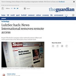 LulzSec hack: News International removes remote access