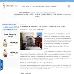 Lumbar Back Support – The Ultimate Relief for Back Pains