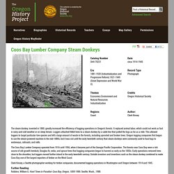 Coos Bay Lumber Company Steam Donkeys