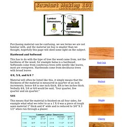 Lumber Dimensions and Terminology