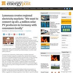 Lumenaza creates regional electricity markets in Germany