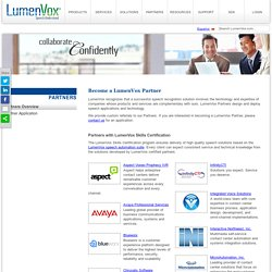 B_Become a LumenVox Speech Recognition Partner