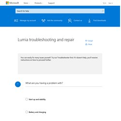 Lumia troubleshooting and repair