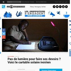 Pas de lumière pour faire ses devoirs? Voici le cartable solaire ivoirien