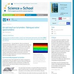 Un oeil neuf sur la lumière : fabriquez votre spectromètre
