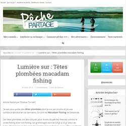 Lumière sur : Têtes plombées macadam fishing