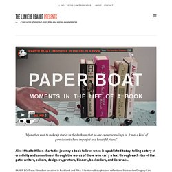 Paper Boat: Moments in the life of a book