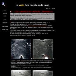 Les lumières étranges du cratère Lansberg