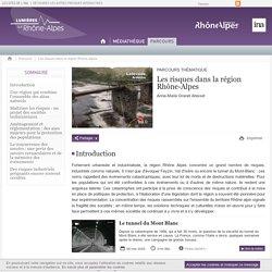 Les risques dans la région Rhône-Alpes