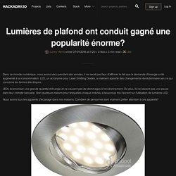 Lumières de plafond ont conduit gagné une popularité énorme?