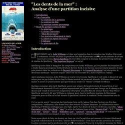 """Esthétique : La Musique du film """"Les dents de la mer"""""""