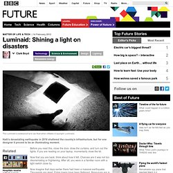 Technology - Luminaid: Shining a light on disasters