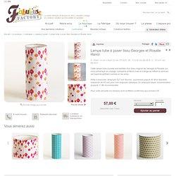 Luminaires > Lampes à poser > Lampe tube à poser tissu Georges et Rosalie Hanoï : Fabuleuse Factory