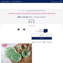 Luminarc Decorative Simply Klos Green Dinnerset - 24pcs