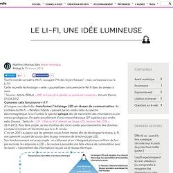Le Li-Fi, une idée lumineuse