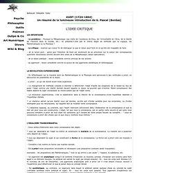Un résumé de la lumineuse introduction de G. Pascal (Bordas)
