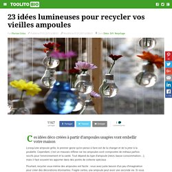 Ampoules d co recyclage pearltrees for Ou jeter les ampoules