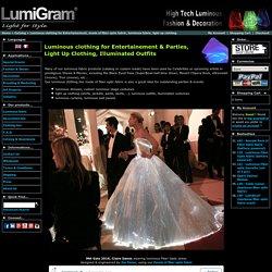 luminous fabric, Luminous clothing, fiber optic clothing, fiber optic fabric, illuminated clothing, light up fabric, glowing fabric, LED clothing