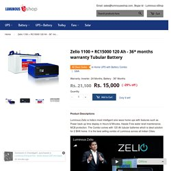Luminous Inverter Battery Combo at Rs. 14300 Only – Luminous eShop