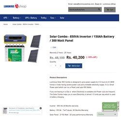 Luminous Solar Inverter, Solar Battery, Solar Panel – Luminous eShop