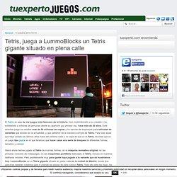 Tetris, juega a LummoBlocks un Tetris gigante situado en plena calle