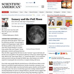 Lunacy and the Full Moon