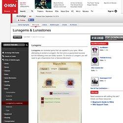 Lunagems & Lunastones - ArcheAge Wiki Guide