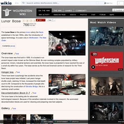 Lunar Base - Wolfenstein Wiki