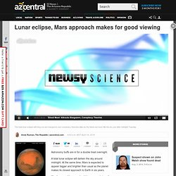 Lunar eclipse, Mars approach makes for good viewing