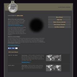 Lunar Eclipse Calendar for 2014 and 2015