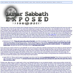 Lunar Sabbath is a Lie [be careful of other material]