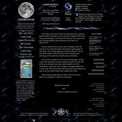 Real time lunar astrology, lore and events.