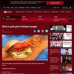 Let's Do Lunch: Gino D'Acampo's peri peri chicken burger