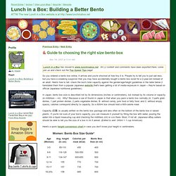 Lunch in a Box: Building a Better Bento - Guide to choosing the right size bento box
